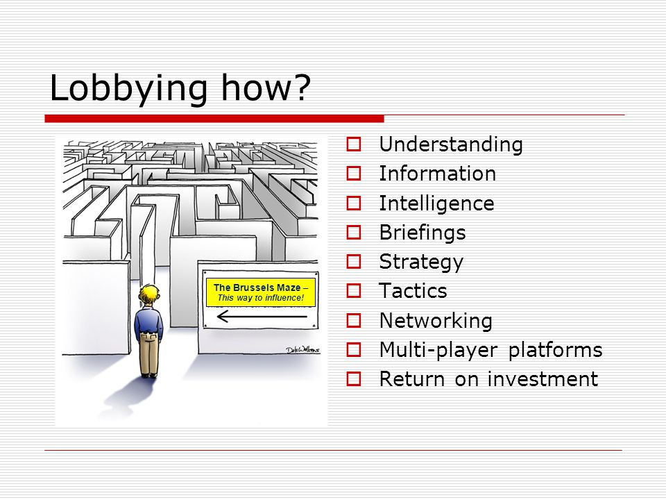 Lobbying – does it work.