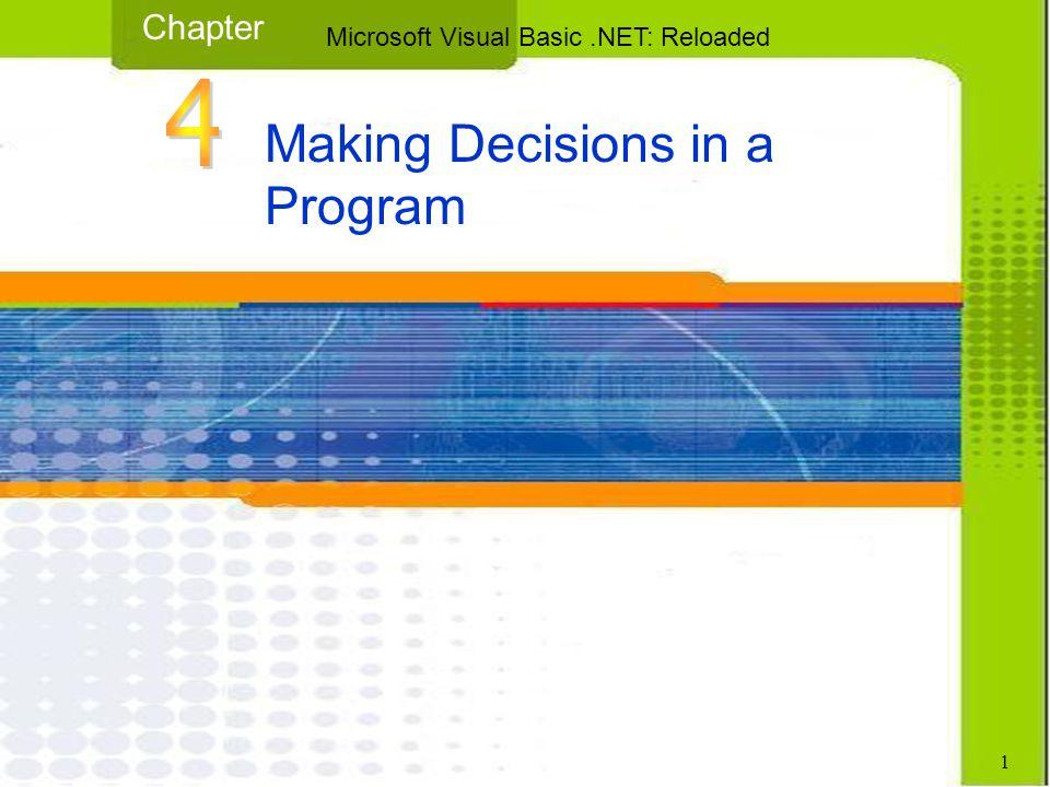 12 Microsoft Visual Basic.NET: Reloaded Using Comparison Operators – Example 1