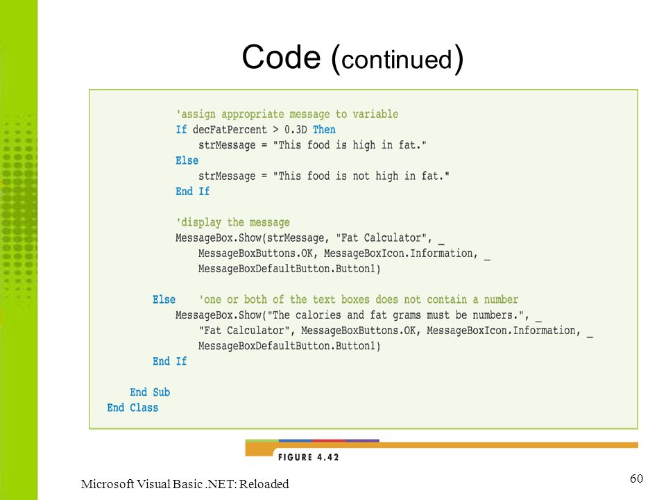60 Microsoft Visual Basic.NET: Reloaded Code ( continued )