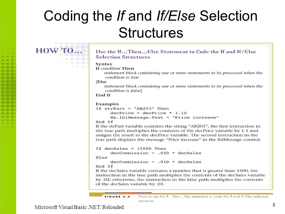19 Microsoft Visual Basic.NET: Reloaded Using Comparison Operators – Example 2 ( continued )