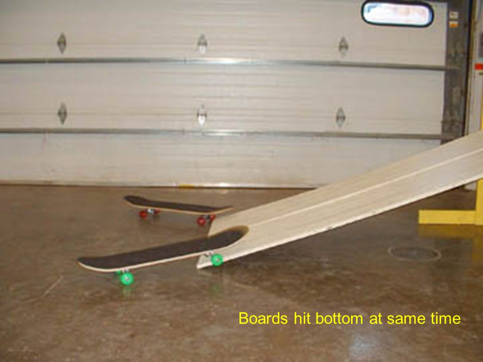 Boards hit bottom at same time