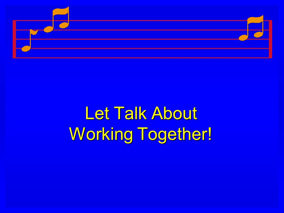 Let Talk About Working Together!