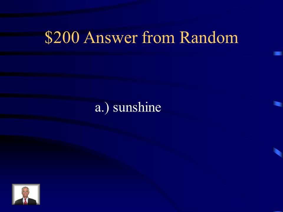 $200 Question from Random Which word is a compound word (two words put together).