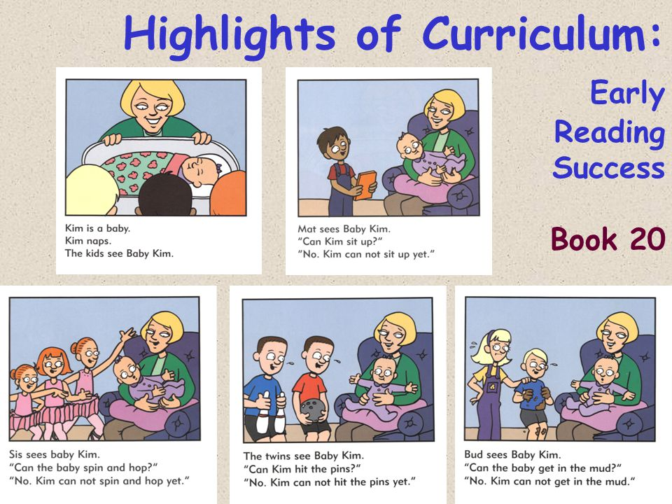 Highlights of Curriculum: Early Reading Success Book 20