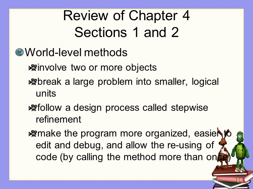 Assignment Chapter 4, Section 3 Lab For next time: Read Chapter 5, Section 1 Create storyboard for Project 2Project 2