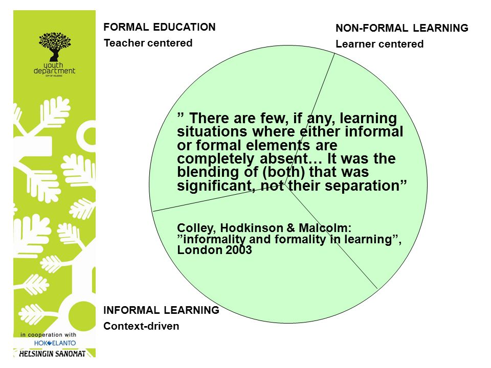 non-formal learning differences in educational philosophy: non-formal learning as complementary to… formal education