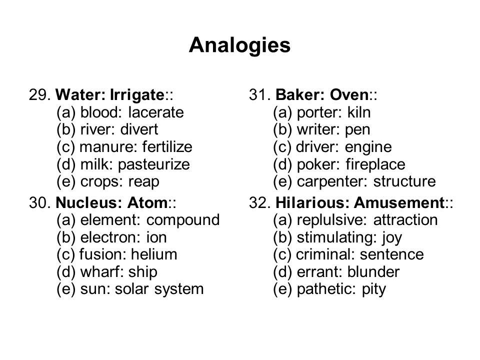 Analogies 29.