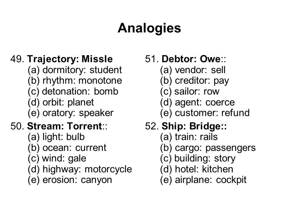 Analogies 49.