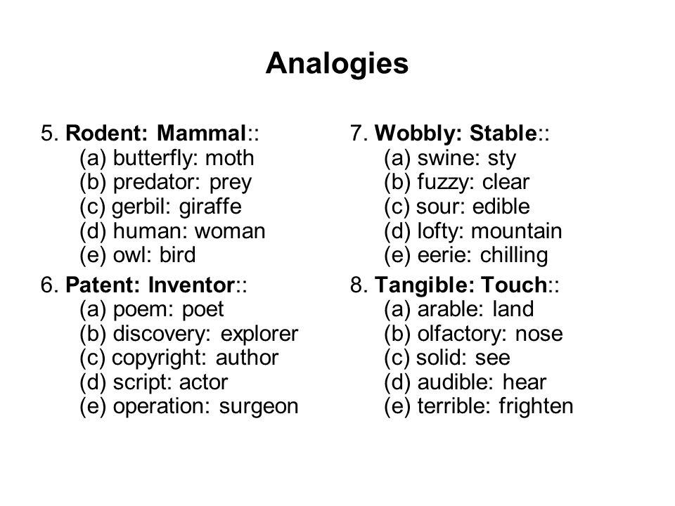 Analogies 5.