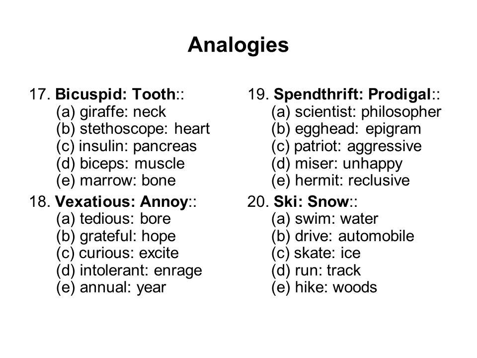 Analogies 17.