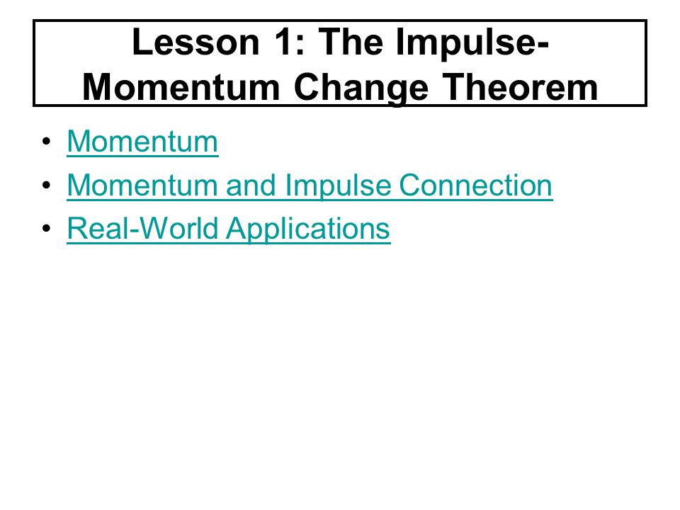 Momentum Momentum can be defined as mass in motion. It is a property of a moving body.