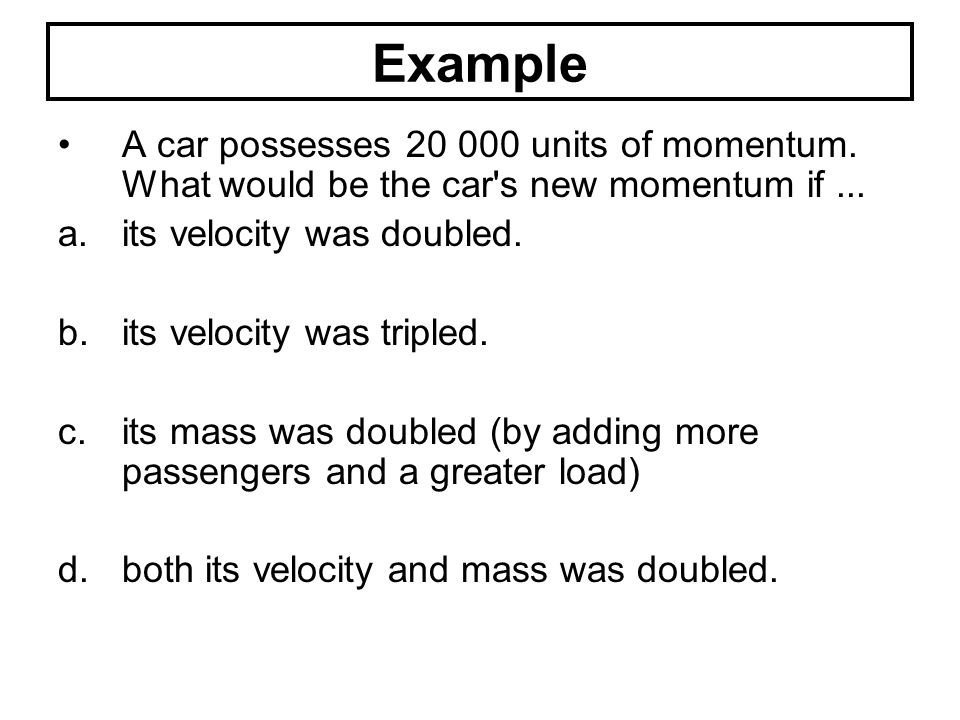 The relationship between Collision Time and Force of Impact The greater the time over which the collision occurs, the smaller the force acting upon the object.