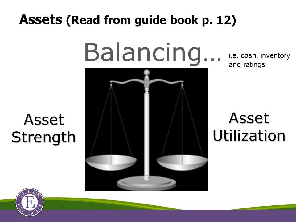 Balancing… Asset Strength Asset Utilization & i.e.