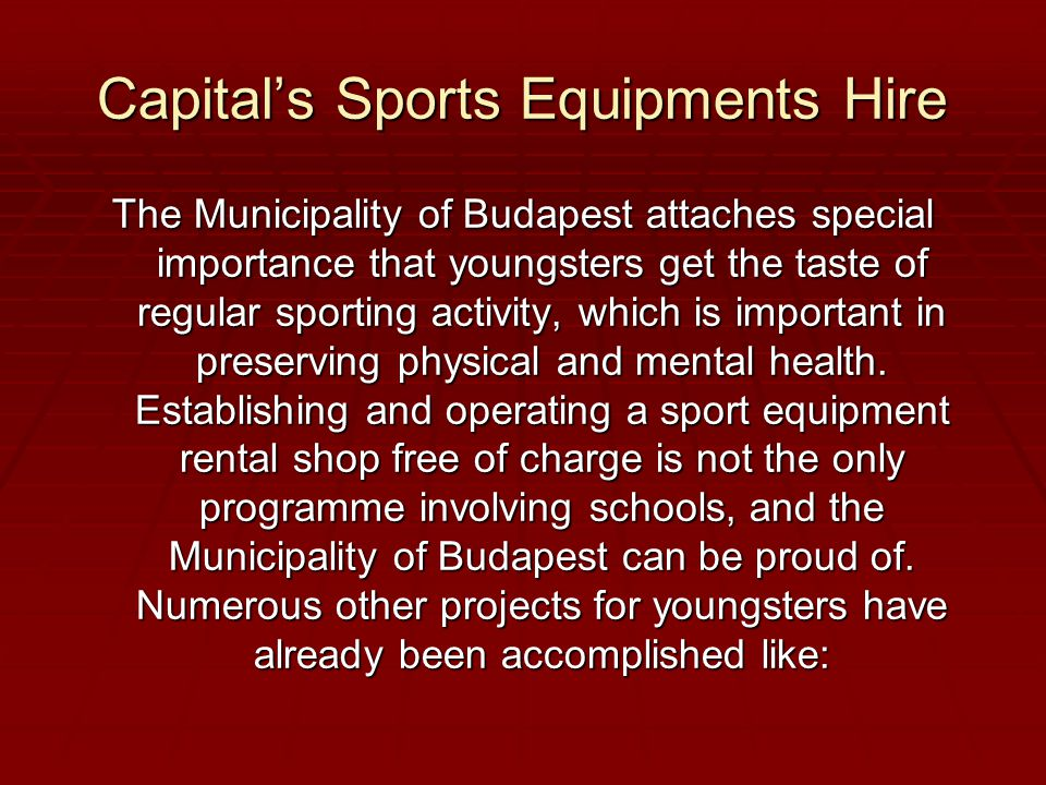 Other projects for youngsters  1000 streetball boards for Budapest