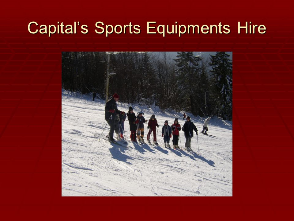 Capital's Sports Equipments Hire