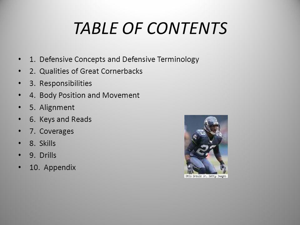 VITAL ASPECTS OF CORNERBACK PLAY SKILLS AND TECHNIQUES