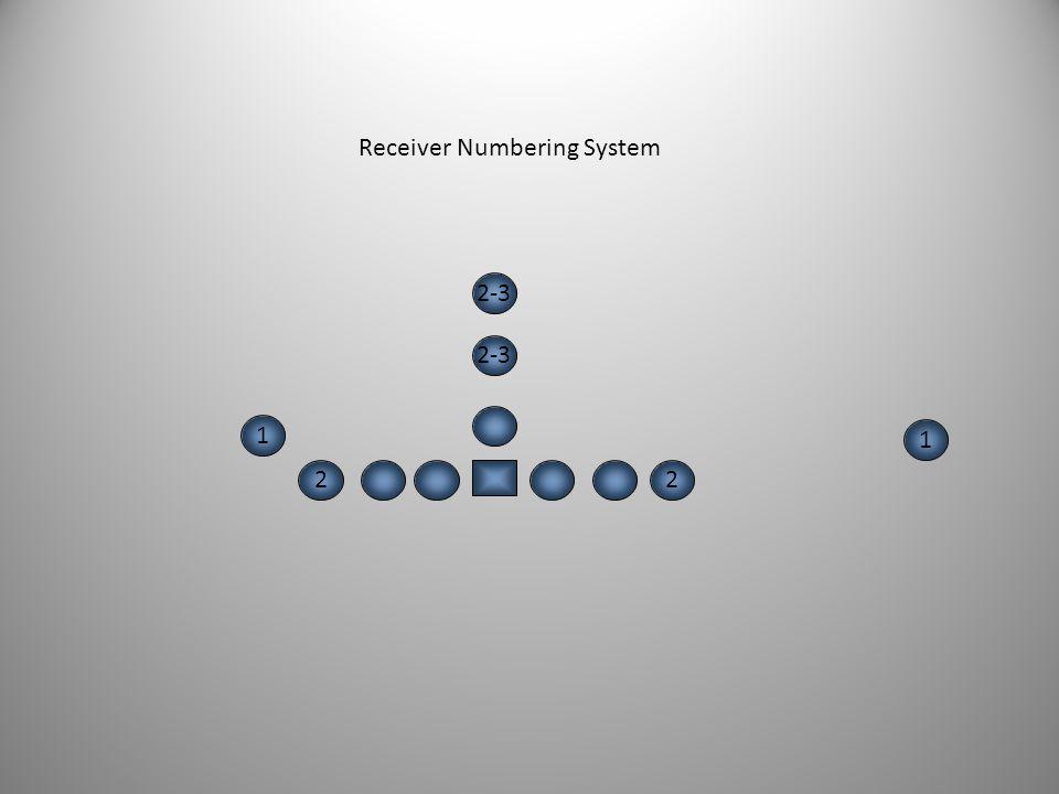 1 1 2 1 3 Receiver Numbering System