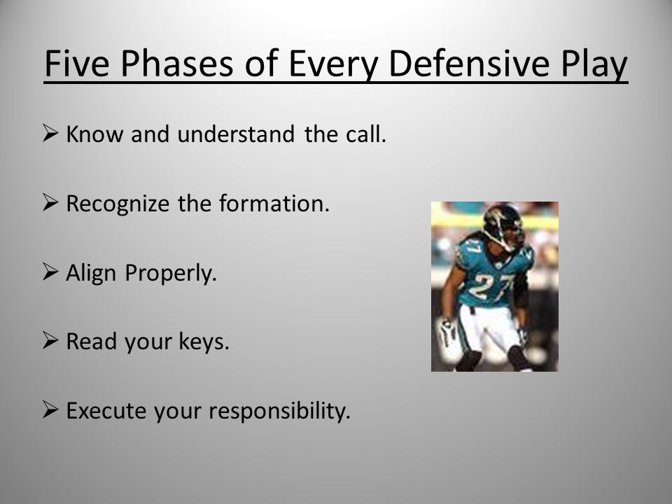 Characteristics of Corners Movement: be athletic and fast. Toughness: mental and physical. Physical Toughness: shed blocks, tackle, press man Mental T