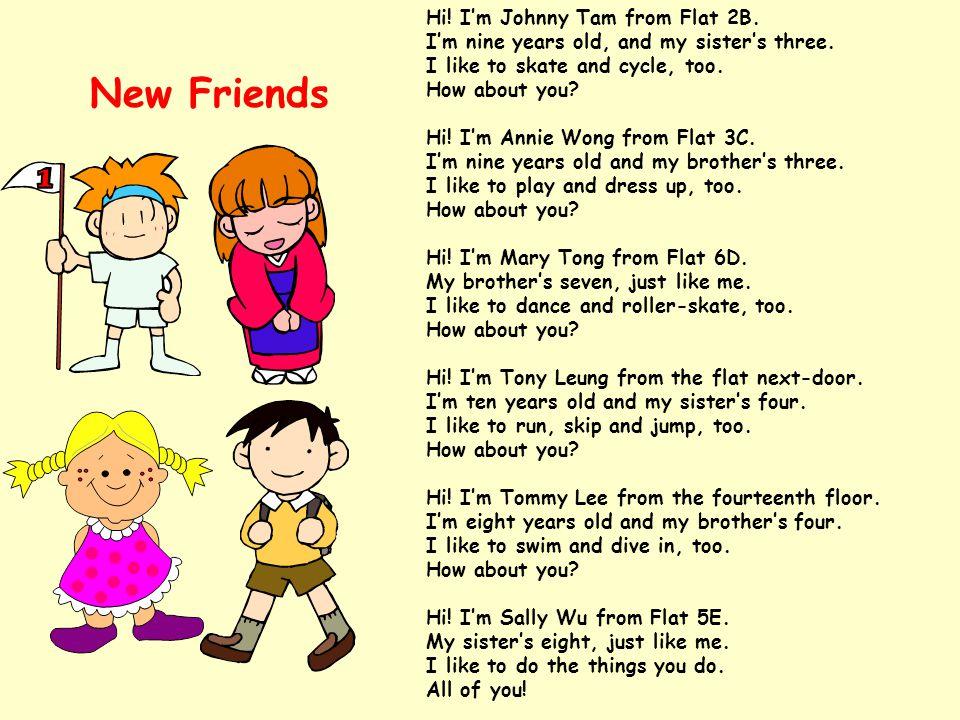 Creative Writing : Write a short verse to introduce yourself : Wong Tai Sin, Tsz Wan Shan, San Po Kong, To Kwa Wan, Ma On Shan, Tseung Kwan O, Diamond