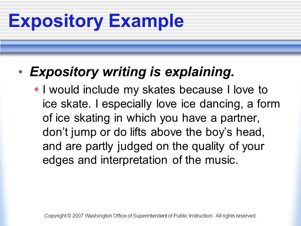 how to write expository essay examples