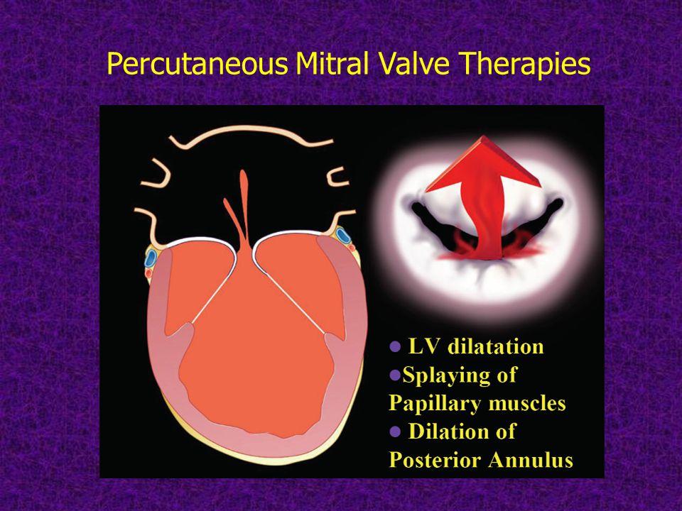 Percutaneous Mitral Valve Therapies