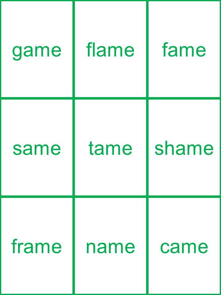 gameflamefame sametameshame framenamecame