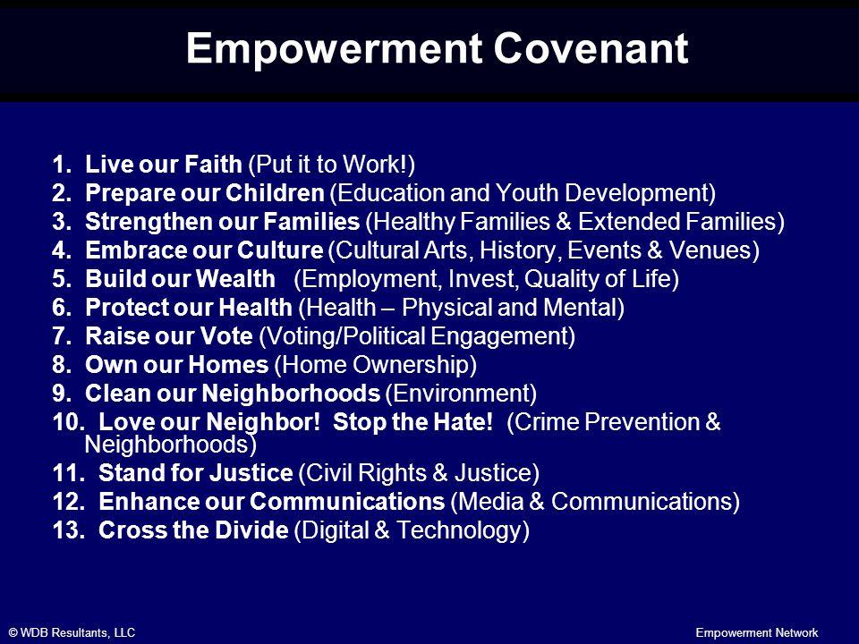 © WDB Resultants, LLCEmpowerment Network Empowerment Covenant 1.