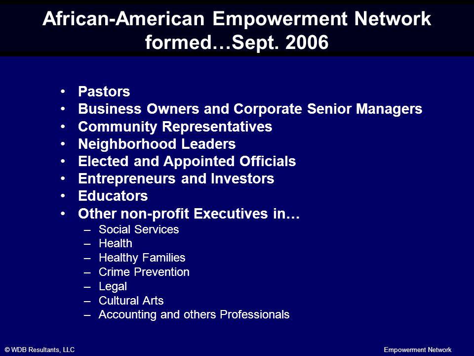 © WDB Resultants, LLCEmpowerment Network African-American Empowerment Network formed…Sept.