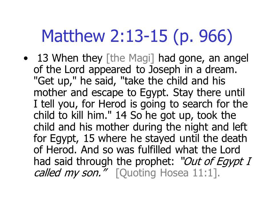 Matthew 2:13-15 (p.