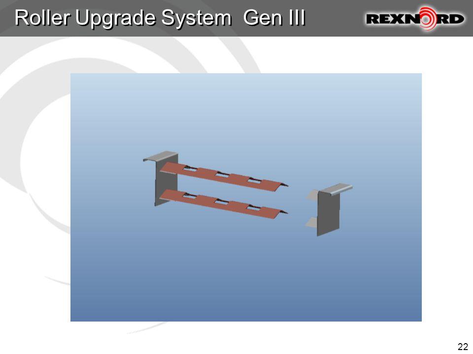 Roller Upgrade System Gen III Questions 22