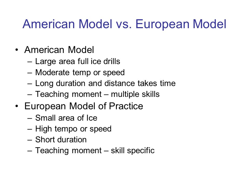 American Model vs.
