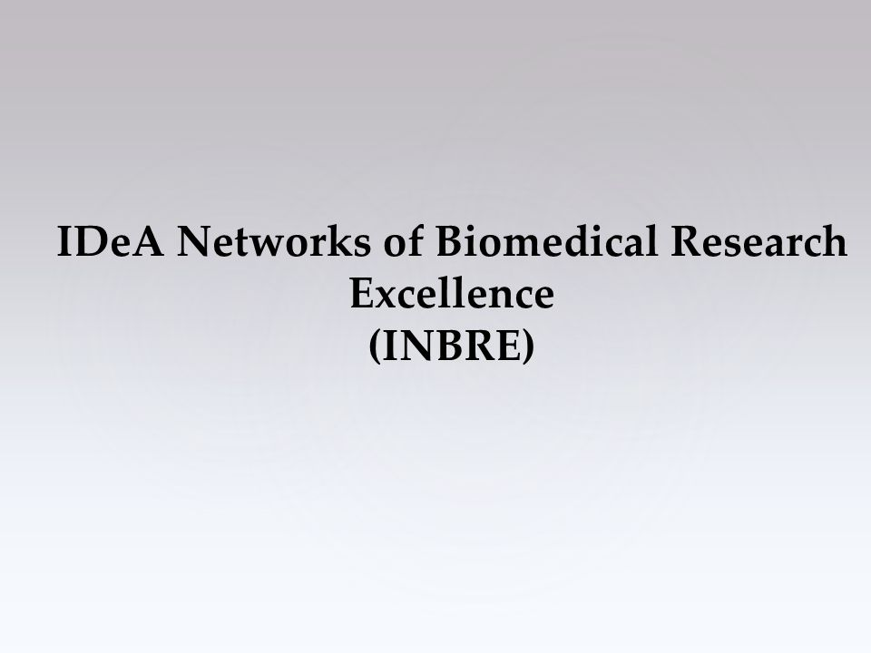 IDeA Networks of Biomedical Research Excellence (INBRE)