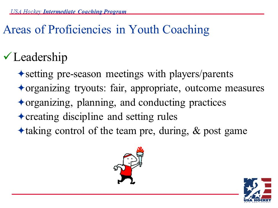 USA Hockey Intermediate Coaching Program Let the online USA Hockey Coaching Planner assist you in planning your practice, season, and player evaluations