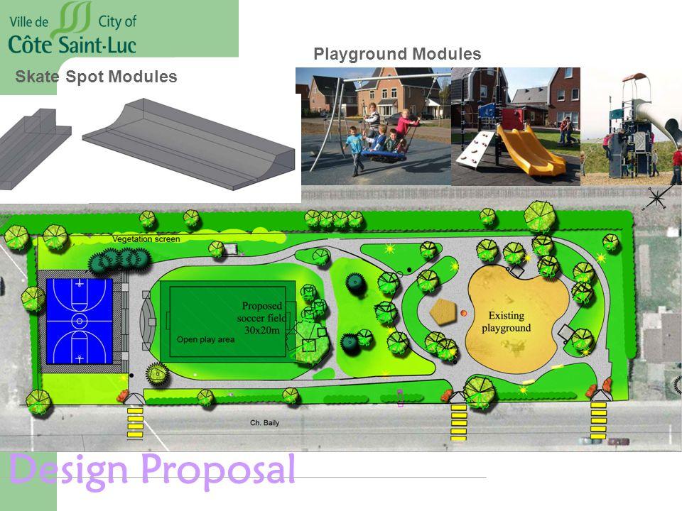 Design Proposal Playground Modules Skate Spot Modules
