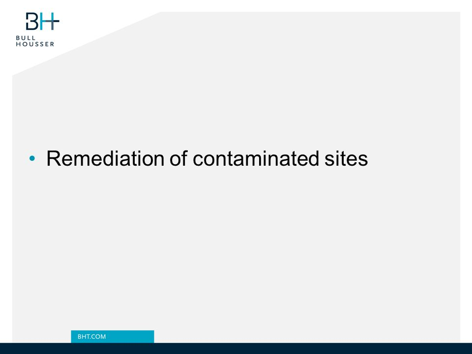 Remediation of contaminated sites