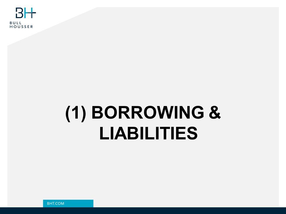 (1) BORROWING & LIABILITIES