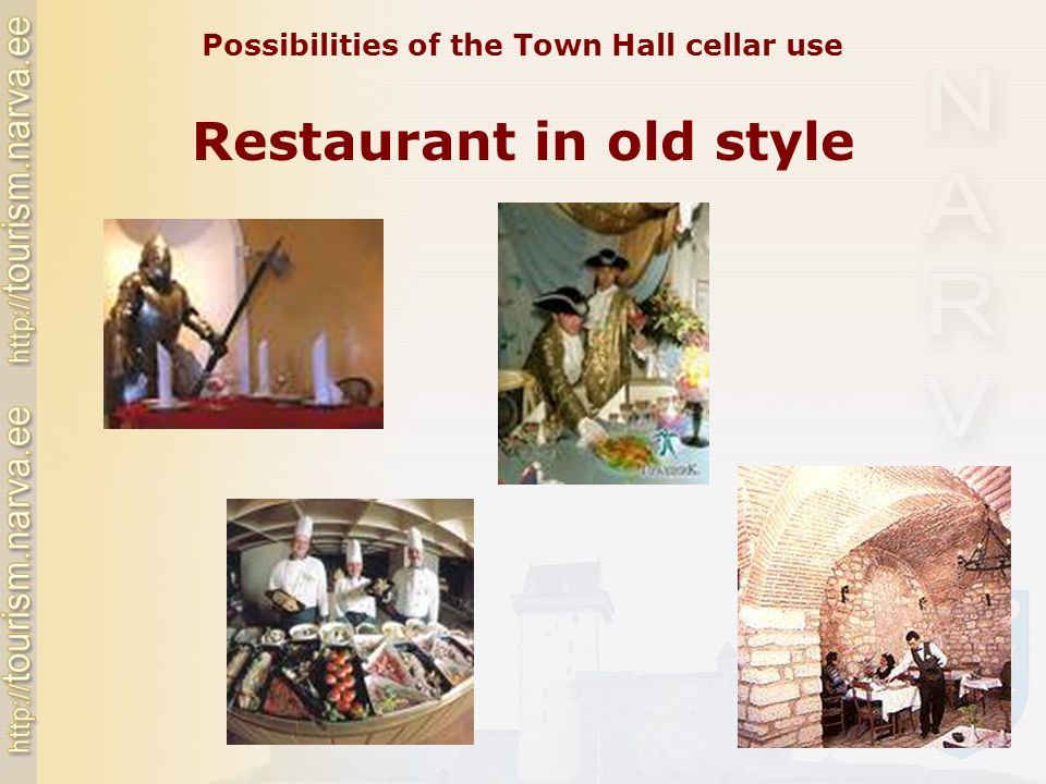 Restaurant in old style Possibilities of the Town Hall cellar use