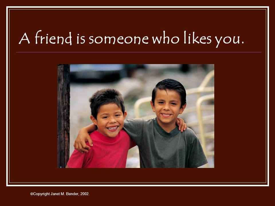 Focus on Friendship © Copyright Janet M. Bender, 2002.