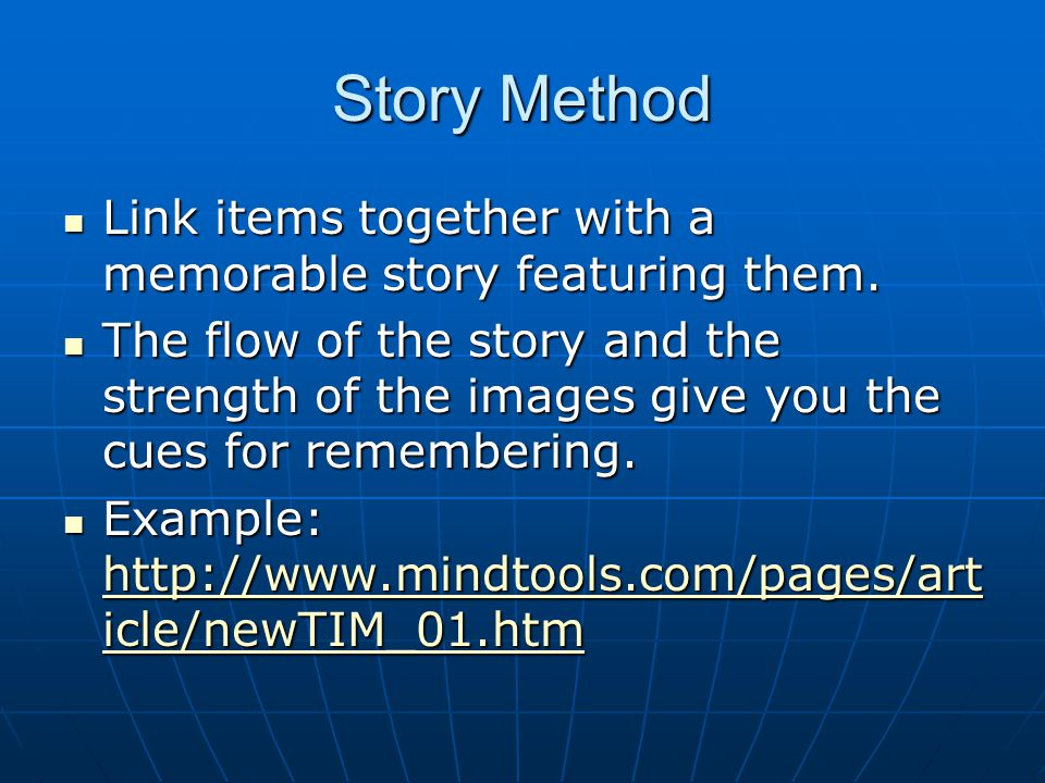 Link and Story Method Pluses - Very simple to learn.