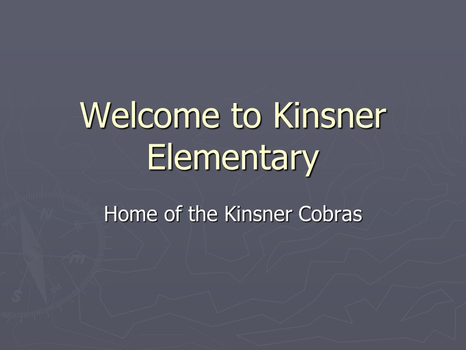 Welcome to Kinsner Elementary Home of the Kinsner Cobras