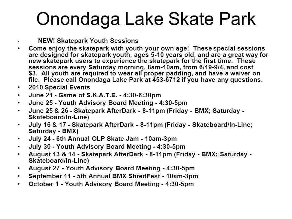 Onondaga Lake Skate Park NEW.