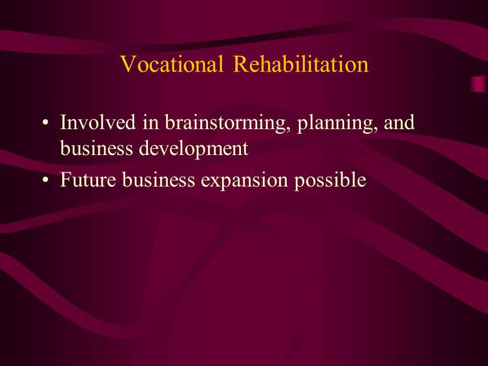 Transition Services Provided person centered planning Involved in brainstorming, planning, and business development.