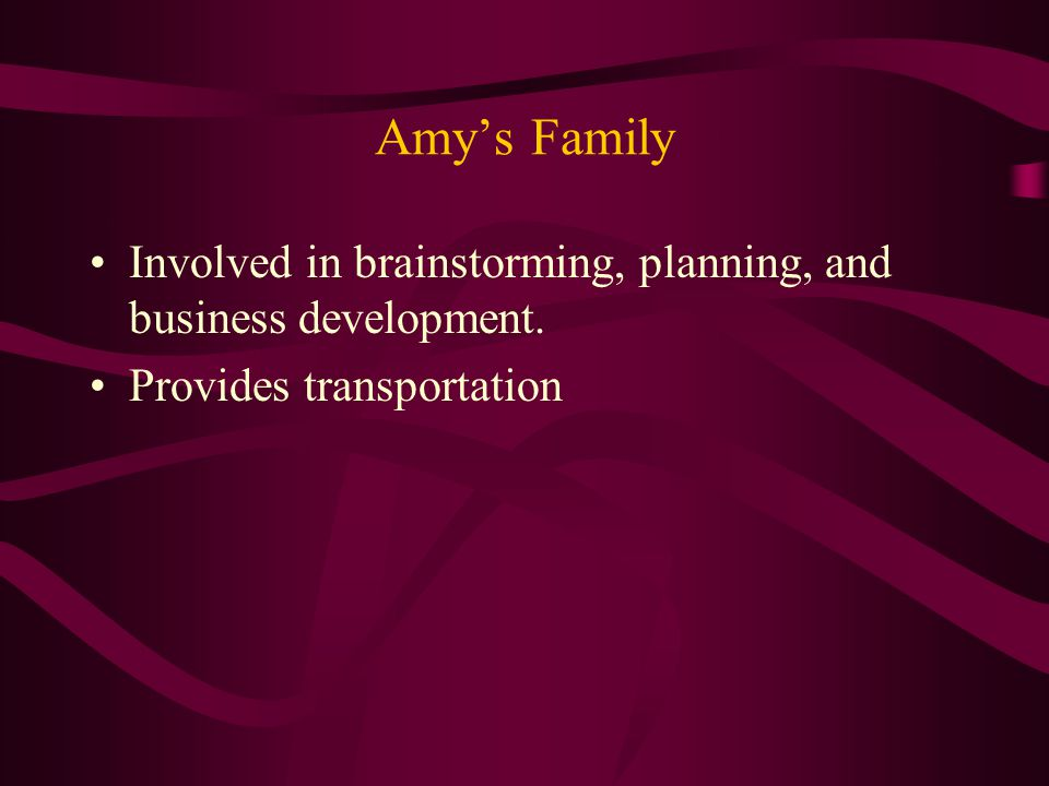 Amy's Business Development Process Through person centered planning, laundry service was determined as an area of interest to Amy.