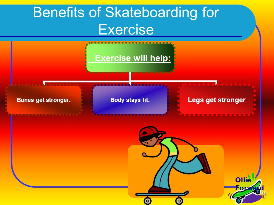 Exercise will help: Bones get stronger.Body stays fit.