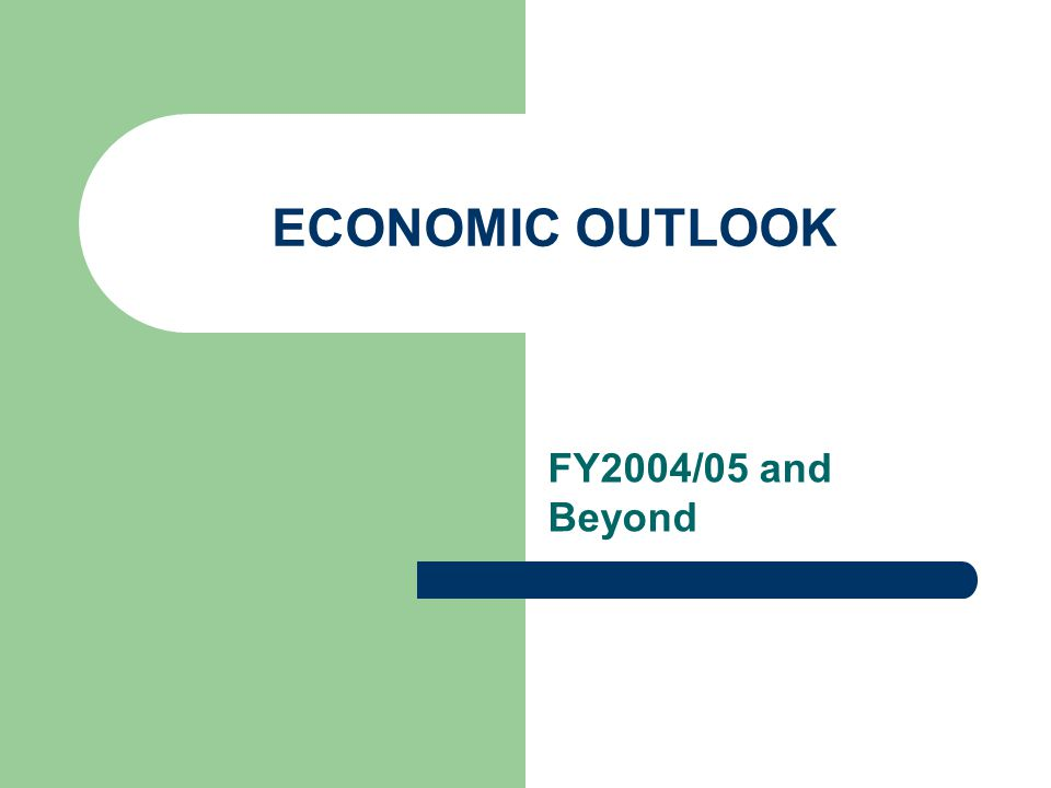 ECONOMIC OUTLOOK FY2004/05 and Beyond