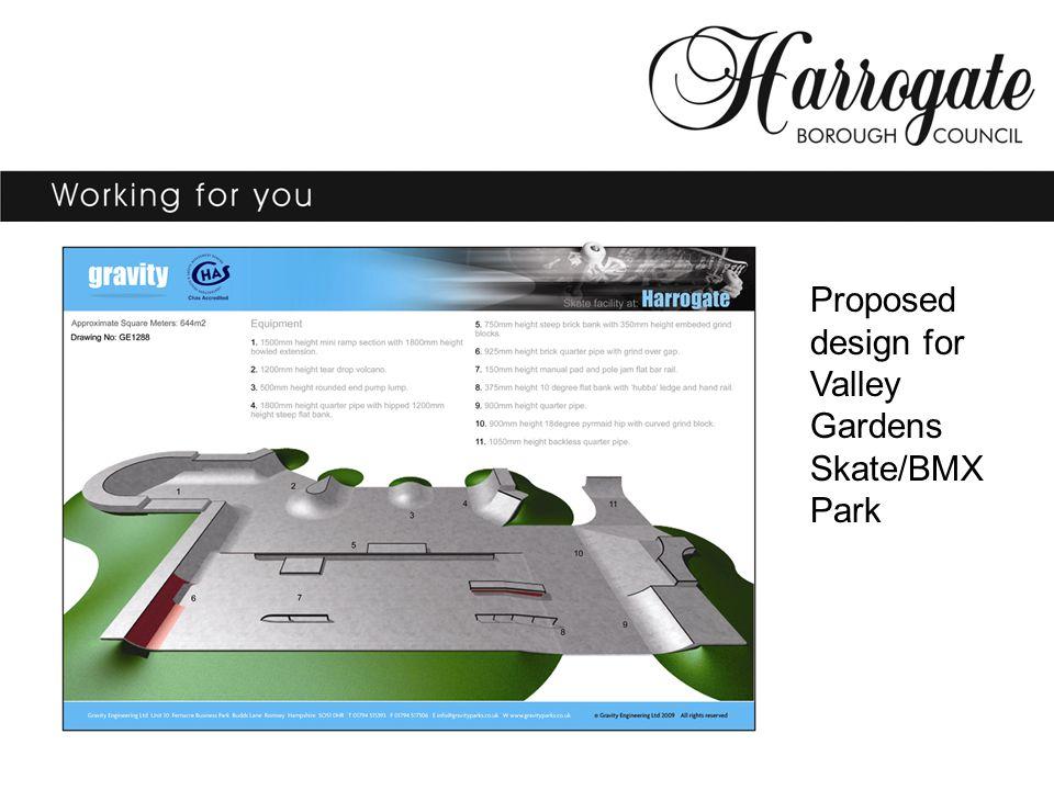 Proposed design for Valley Gardens Skate/BMX Park