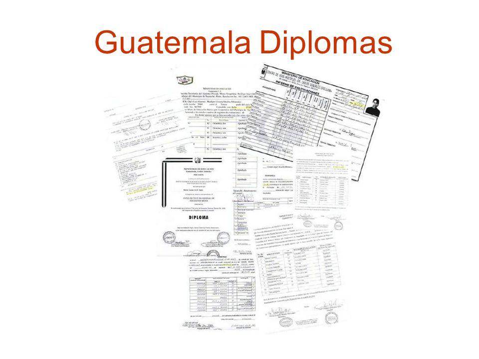 Guatemala Diplomas