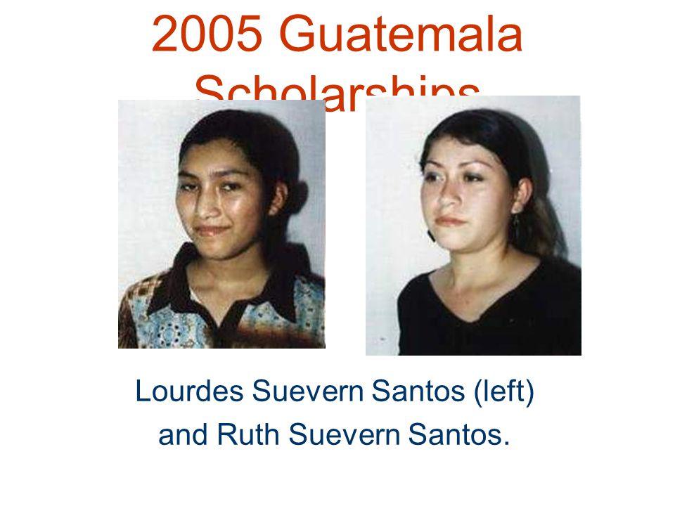 2005 Guatemala Scholarships Lourdes Suevern Santos (left) and Ruth Suevern Santos.