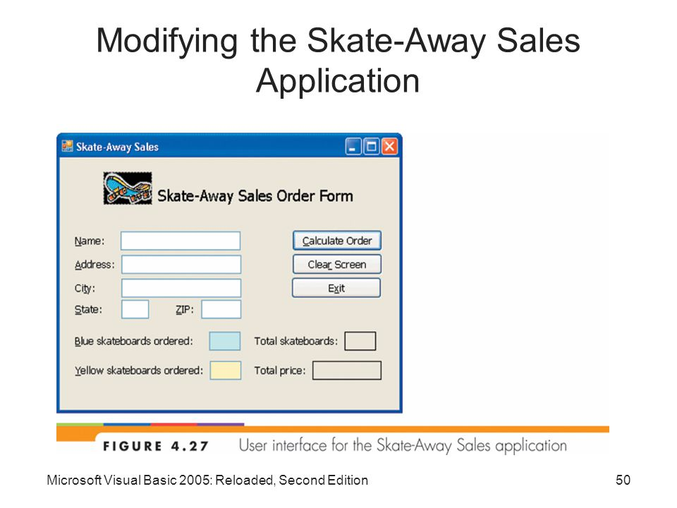 Microsoft Visual Basic 2005: Reloaded, Second Edition50 Modifying the Skate-Away Sales Application