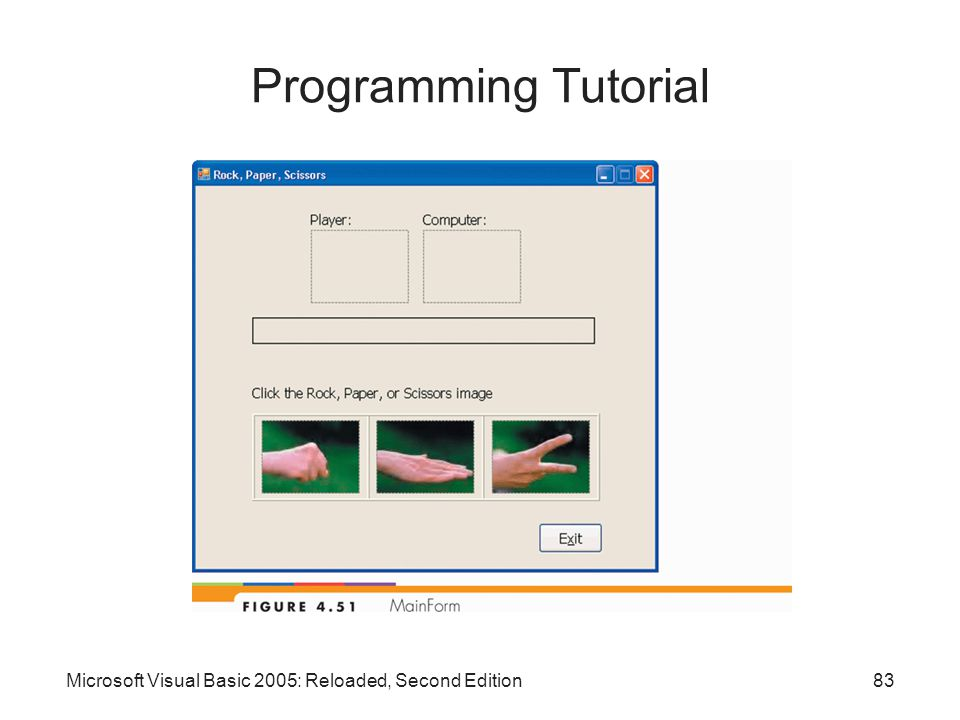 Microsoft Visual Basic 2005: Reloaded, Second Edition83 Programming Tutorial